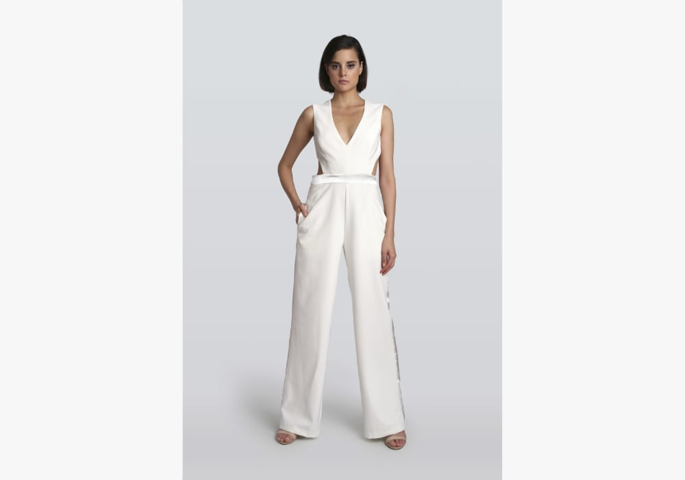 Lotus Threads - Nicky Ivory & Black Jumpsuit